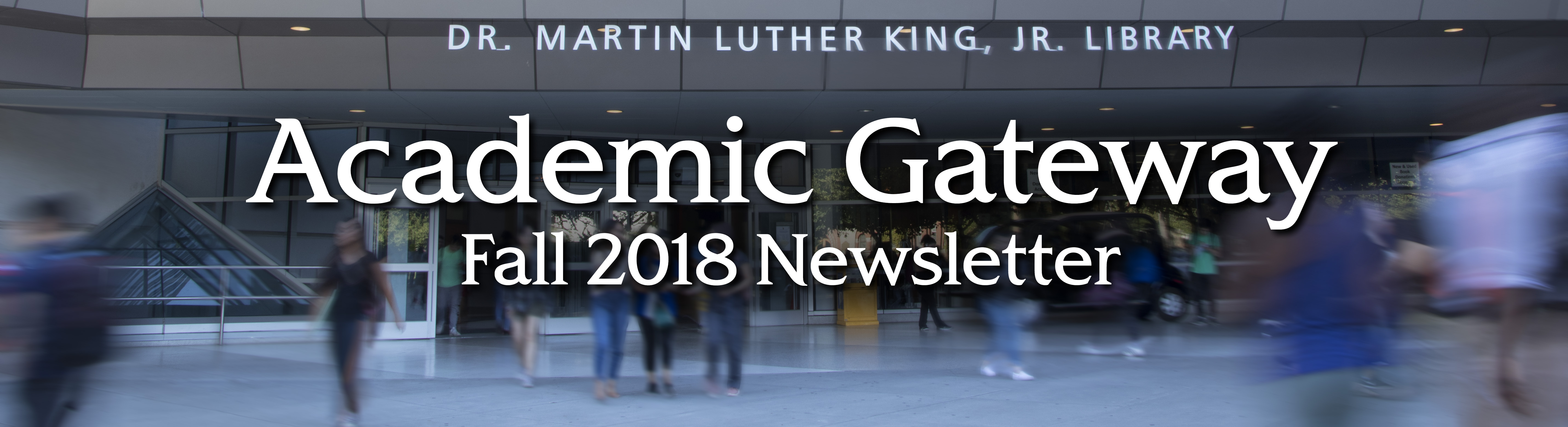 Academic Gateway Newsletter Header Image of Library Building
