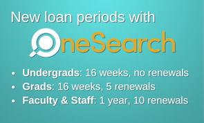 OneSearch: Loan Period