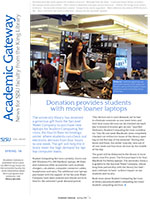 Front page of Academic Gateway Newsletter