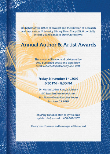 SJSU Annual Author and Artist Awards