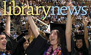 Photo of graduating students celebrating.
