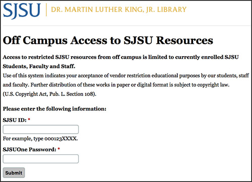 Access databases off campus