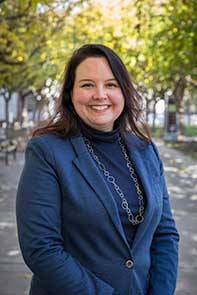 Photo of librarian Christa Bailey