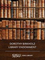Birkholz, Dorothy Library Endowment