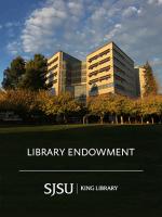 SJSU Library Endowment