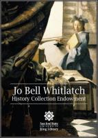 Whitlatch, Jo Bell History Endowment